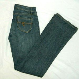 Guess Jeans Belmont Flare Womens 26 Blue Jeans